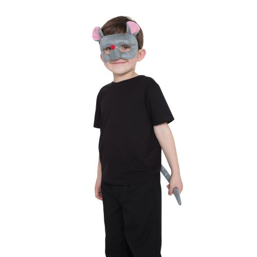 Mouse Set Mask & Tail Animal Creature Mickey Danger Mighty Fancy Dress